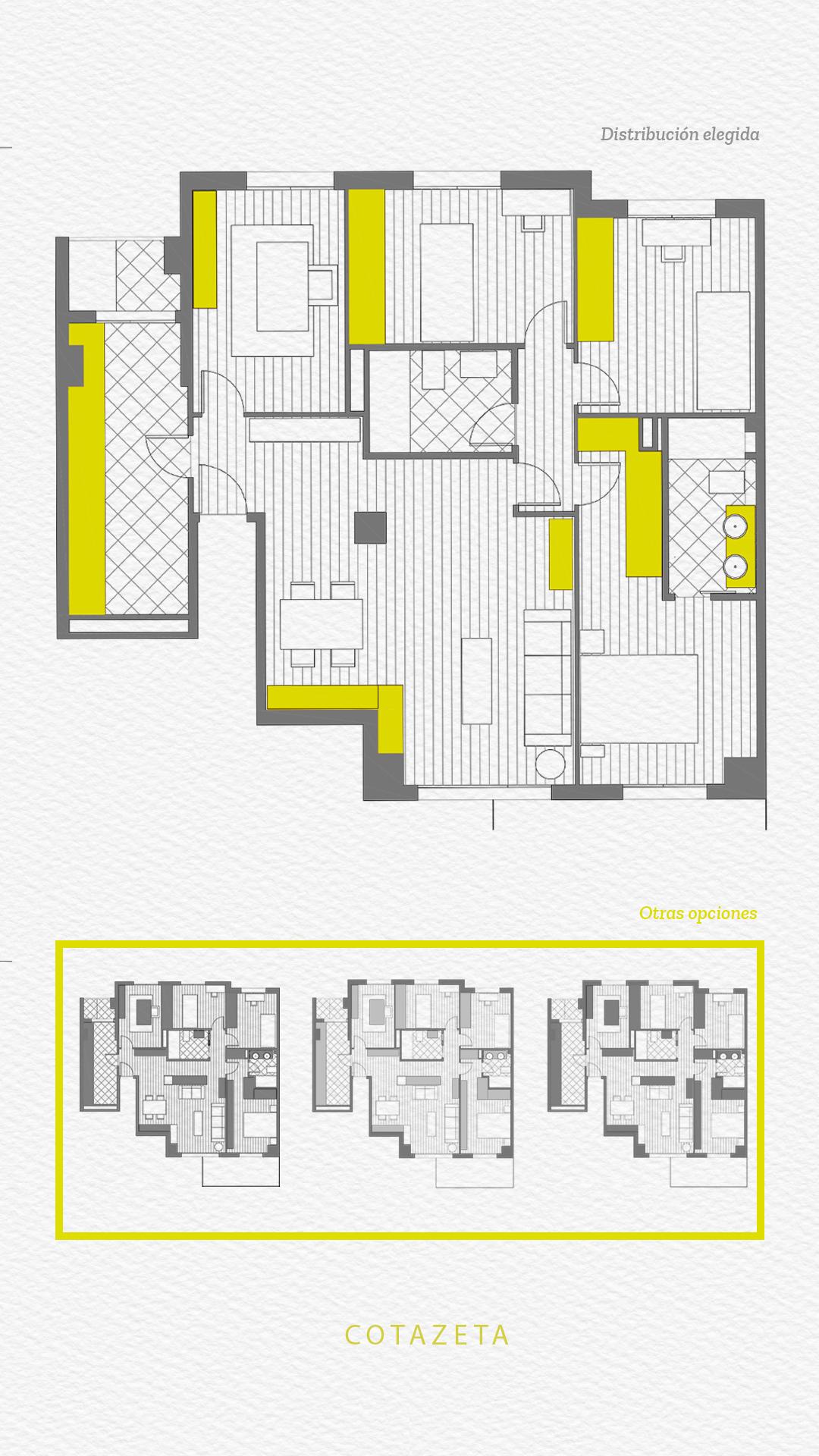 Proyecto de reforma integral de piso en Zaragoza - Reformas Zaragoza | COTA ZETA